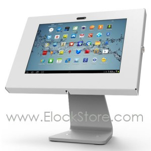Pied rotatif 360 Swivel et kiosque Galaxy Tab1 Tab2 Note 10,1 - Argent - Maclocks