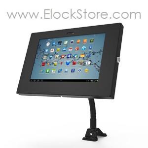 Bras flexible Noir et kiosque antivol Galaxy Tab1 Tab2 Note 10,1 - Noir - Maclocks