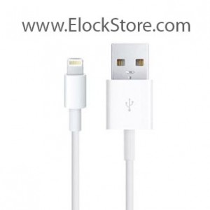 Câble USB de recharge iPad Retina/Air - lightning - 2m - Noir ou Blanc - Maclocks ElockStore REF00550
