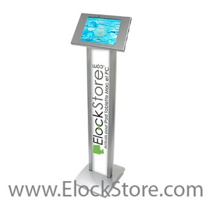 Stand Galaxy Tab3 Tab4 - BrandMe et kiosque - Argent - Maclocks 140S300GES Elockstore REF00553