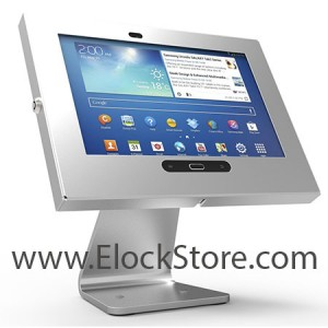Pied rotatif 360 Swivel et kiosque Galaxy Tab3 Tab4 - Argent - Maclocks 303S300GES Elockstore REF00557A
