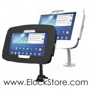 Kiosque Space galaxy tab galaxy note 10.1 - avec Bras flexible - Maclocks Galaxyenclosure