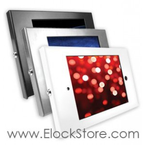 Coque antivol iPad 2 3 4 Air Air2 alu - Kiosque Square - sans support - Maclocks 202ENB