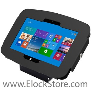 Kiosque Space pour Microsoft Surface 2, Pro et Pro 2 - Noir - avec support fixe - Surfaceenclosure