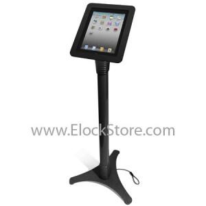 Stand iPad 1 2 3 et 4 - Ajustable et Coque Alu Noir - BH Ouvert