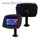 Kiosque Space Surface Pro Pro2 - avec pied Pole - Noir - Maclocks Surfaceenclosure