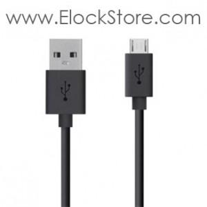 Câble USB de recharge Samsung - mUSB - 2m - Noir ou Blanc - Compulocks ElockStore REF00383