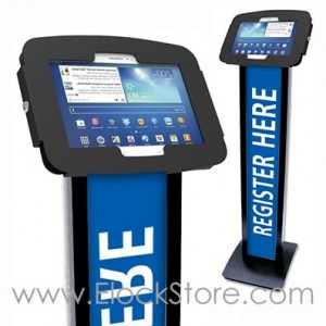 Borne Galaxy tab S  - BrandMe et Kiosque Space Tab S 10 pouces noir - Compulocks maclocks 140BS105GEB ElockStore REF00394