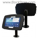 Borne galaxy Tab A 9.7 tubulaire de table - Kiosque Space et pied Pole - Noir - Maclocks 920B697AGEB ElockStore REF00402
