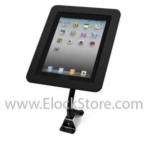 Bras flexible et Coque Aluminium iPad 1 2 3 4 5 Air – Cache bouton home amovible - Noir - Maclock 159B213EXENB ElockStore REF000