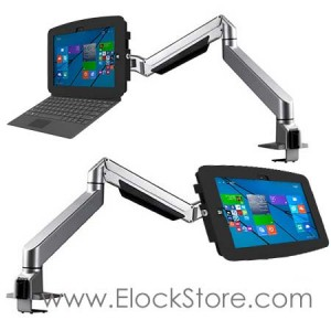 Coque antivol surface Pro 4 et Bras telescopique - Kiosk space Reach Arm � Maclocks 660REACH530GEB ElockStore REF00479