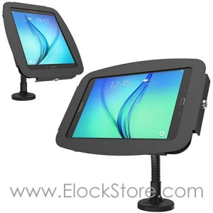 Bras flexible  galaxy tab A 9.7 - kiosque space avec Bras flexible - Noir - Maclocks 159B697AGEB ElockStore REF00404