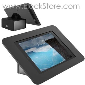 Coque antivol iPad Air 1/2 10.1 de table - Support FLIP rotatif Kiosk ROKKU Noir - Maclocks 540B260ROKB elockstore REF00803
