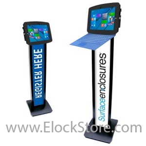 Borne Totem Surface 3 BrandMe et Kiosk Space surface 3 - Noir - Maclocks 140B518GEB ElockStore REF00429