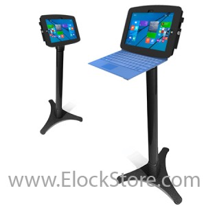 Borne antivol Surface 3 Pied ajustable - kiosk space surface 3 Adjustable – Noir – Maclocks 147B518GEB ElockStore REF00428