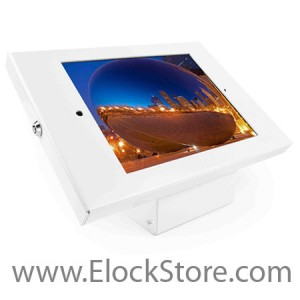 Kiosque Alu iPad 2 3 4 Air Air2 - Blanc - avec support fixe - Maclocks 101W202ENW