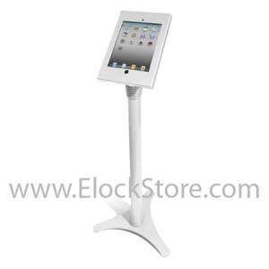 Stand iPad 2 3 4 Retina - Ajustable et Kiosque Blanc - Cache bouton home amovible - Maclocks