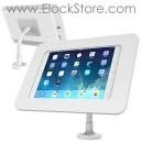 Bras Flexible pour tablette 10 pouces avec coque antivol Rokku Blanc 159W260ROKW