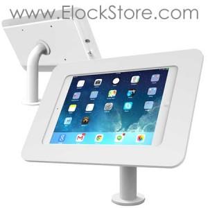 Borne comptoir tablette 9.7 pouces pied Pole et coque antivol Rokku Blanc 920W697AROKW