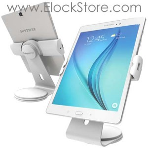 Support tablette universel Cling 2, Borne de table Blanche Maclocks UCLGSTDW