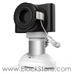 Support alarme pour Camera et GOPRO autonome, Support de presentation camera antivol pour rayonnage, Neolock SI122