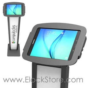 Borne Galaxy tab E 9.7 Personnalisable et coque noir, BrandMe Space Tab E Maclocks