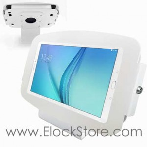 Borne alu Galaxy Tab A 9.7 Kiosque Space et Support fixe blanc Maclocks 101W697AGEW