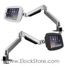 Bras articulé télescopique et kiosque space iPad 2 3 4 Air Pro 9.7 – Maclocks Reach arm 660REACH224SENB 660REACH224SENW