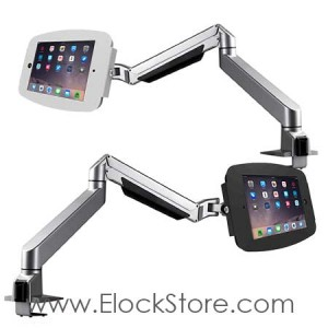 Bras articulé télescopique et kiosque space iPad – Maclocks Reach arm 660REACH224SENB 660REACH224SENW
