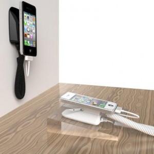 Présentoir Smartphone mural avec alarme chargeur Neolock S2131