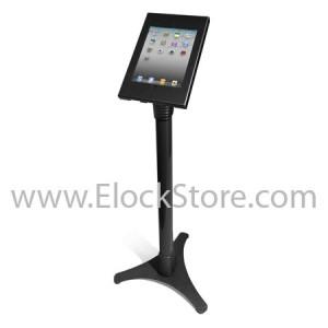 Stand iPad 2 3 4 5 Air - Ajustable et Kiosque Square Noir - cache BH amovible - maclcoks