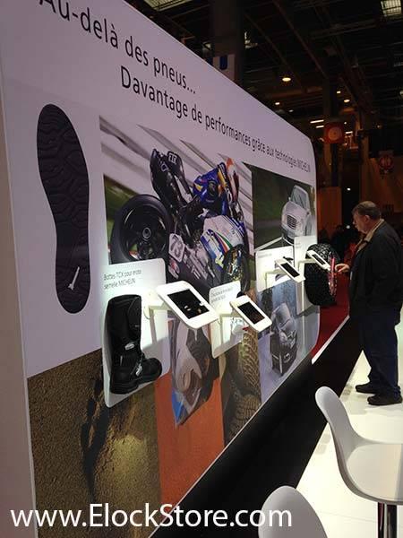 Michelin - Pied pole et coque executive iPad Air Maclocks ElockStore