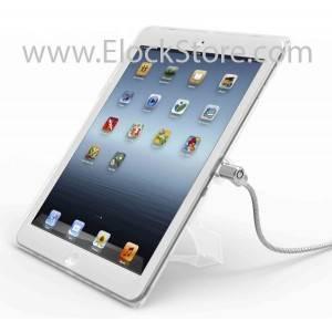 vente coque ipad air transparente avec cable antivol