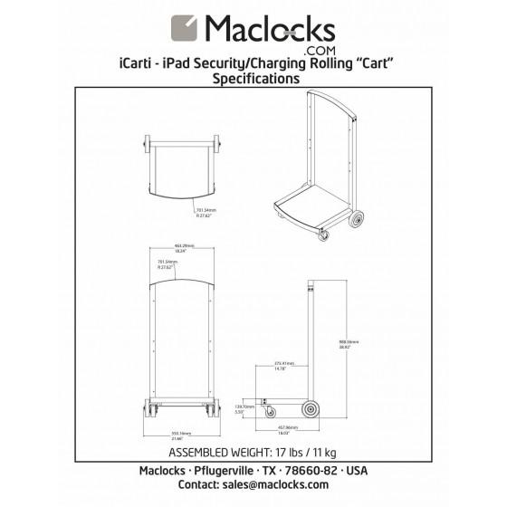 Chariot CartiPad seul sans caisson - Maclocks Cartipad