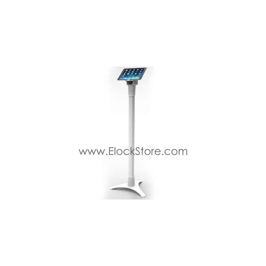 Borne tablette universelle - Pied totem Ajustable Cling On - Blanc - Maclocks 147WCLG10 ElockStore REF00378 4