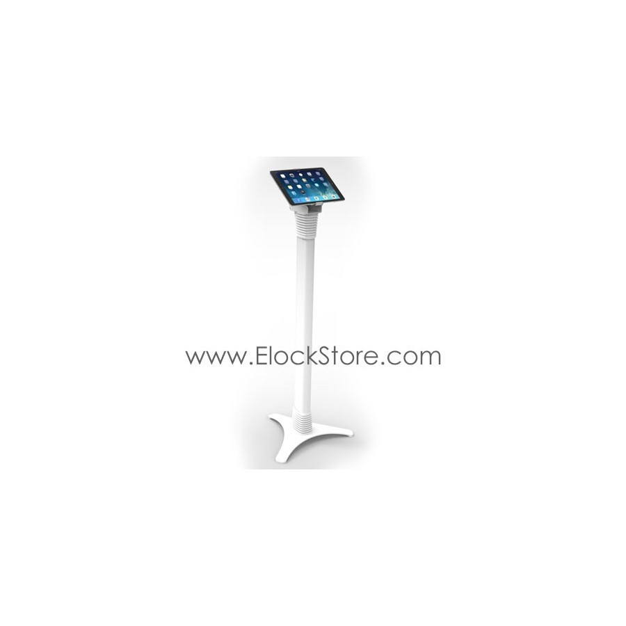 Borne tablette universelle - Pied totem Ajustable Cling On - Blanc - Maclocks 147WCLG10 ElockStore REF00378 5