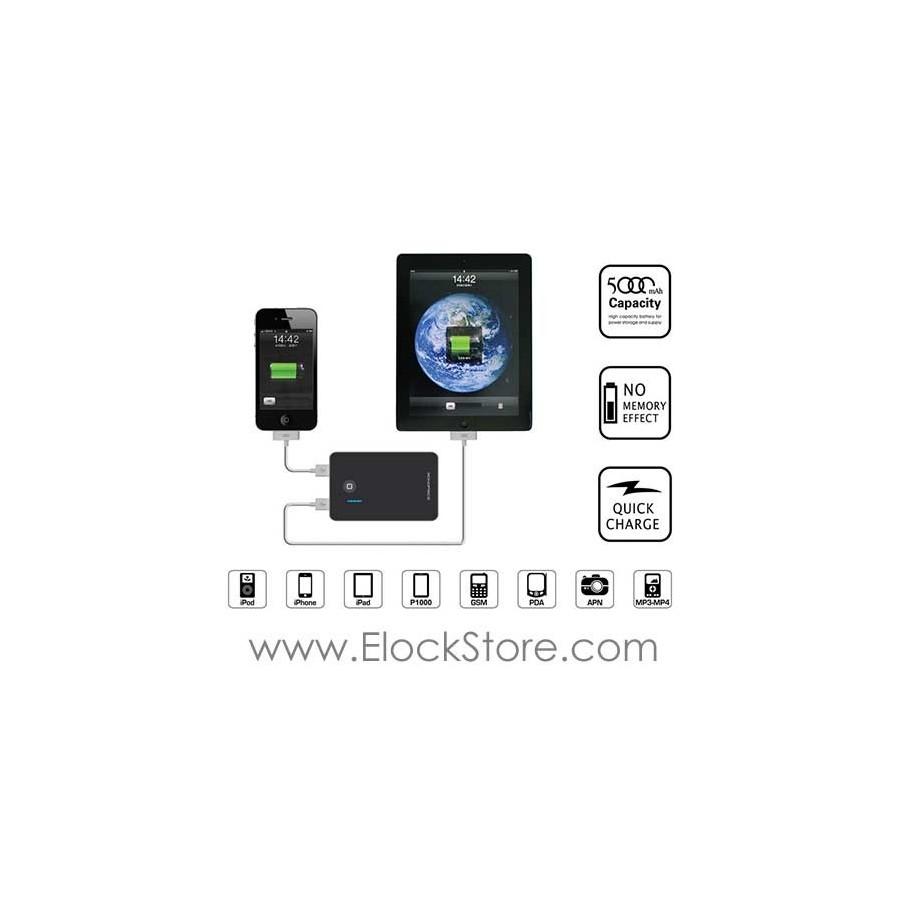 Batterie de secours tablette iPad iPhone iPod et périphériques mobiles (6000mAh) - Compulocks BTRYPCK - ElockStore REF00517
