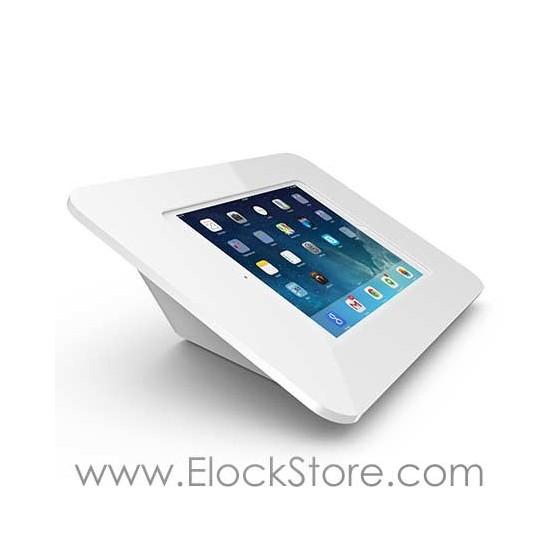 Borne CAPSULE iPad Air 1 2 - Kiosque ROKKU Blanc Support CAPSULE - Maclocks 340W260ROKW Elockstore REF00852