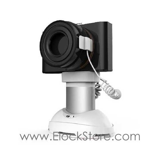 Support alarme pour Camera et GOPRO autonome, Support de presentation camera antivol pour rayonnage, Neolock SI122