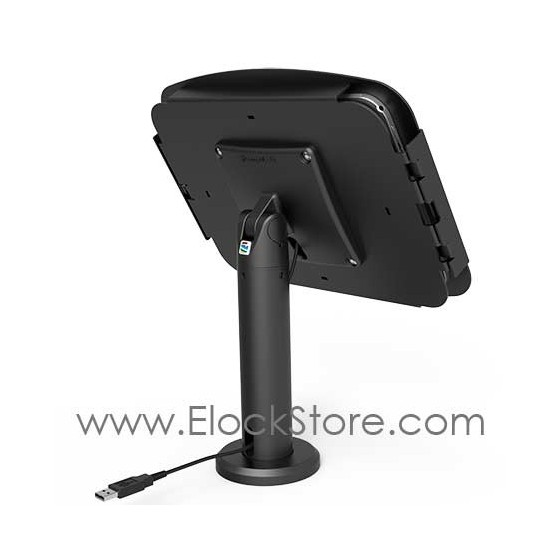 Pied support Tab A 10.1 - Pied passe cable rotatif - Kiosk Space Pied Rise - Maclocks TCDP01910AGEB