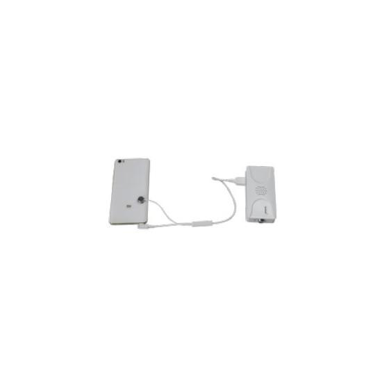 Cable antivol avec mini sensor et alimentation Musb pour Smartphone et tablette A6133W