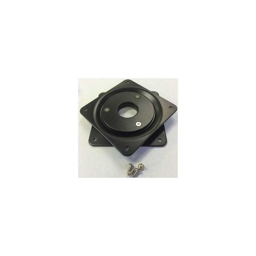 Plaque rotative pour tete de Pied ajustable brandme ou kiosque en montage mural rotatif Maclocks VRP-B VRP-W