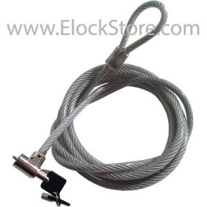 Câble antivol Mac et Pc informatique à clé - 1m70 noir argenté - CL15 Compulocks