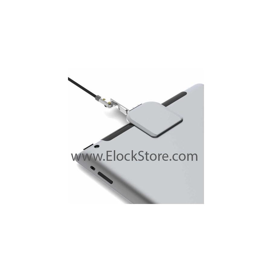 Platine antivol tablette smartphone universelle - Argent - câble Wedge - Maclocks elockstore Platine WDG08