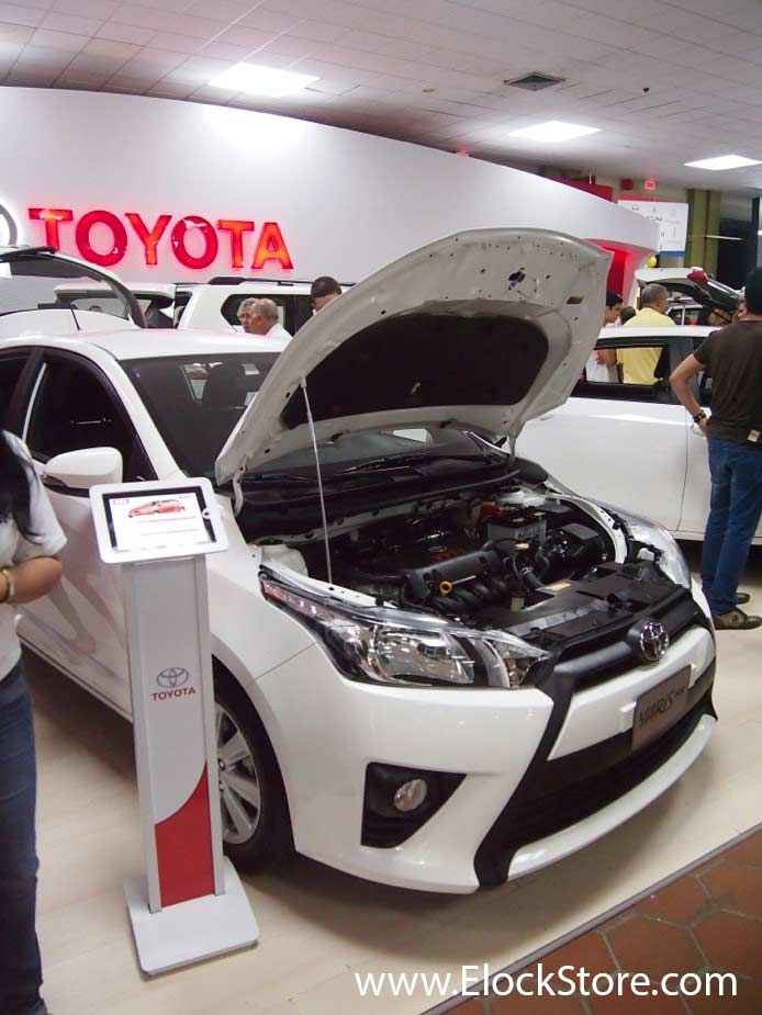 Toyota - Pied borne iPad Air BrandMe Blanc Maclocks ElockStore