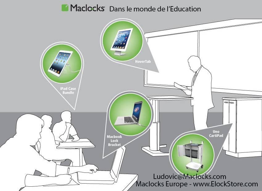 Solution pour tablette dans l'education et les ecoles maclocks