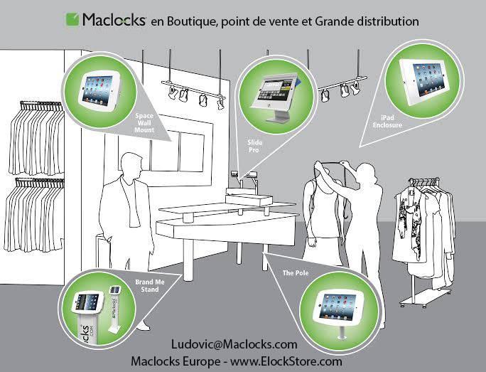 iPad galaxy surface antivol boutique maclocks compulocks elockstore
